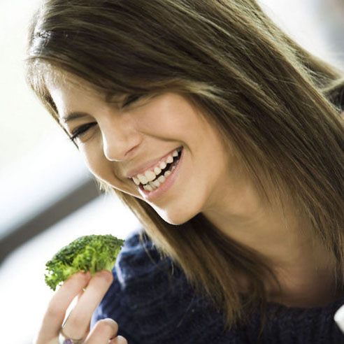 just think, you too could be this happy eating broccoli!