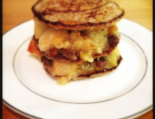 Buckwheat Pancakes with Spiced Apple and Pear Compote