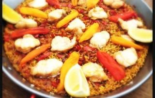 Autumn Detox Monkfish Paella Recipe