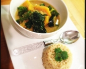 Pumpkin, Kale & Courgette Thai Curry